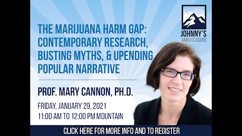 The Marijuana Harm Gap: Busting Myths and Upending Popular Narrative with Contemporary Research