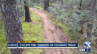 Booby-trapped bike trail near Colorado Springs concerns cyclists - Video