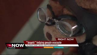 """Angels"" helping people evacuate"