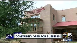 Community businesses in Mayer hurting because of lack of tourism after major storms - Video