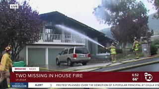 2 missing after fire destroys La Jolla home