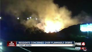 Residents Concerned over Flammable Debris - Video