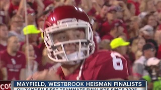 OU's Mayfield, Westbrook both Heisman Trophy Finalists - Video