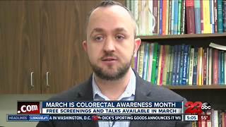 March has been declared as colorectal cancer awareness month, free screenings available this month - Video