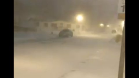 Blowing Snow Makes for Poor Visibility in Michigan