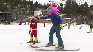Skiers celebrate Easter on slopes for Gaper Day - Video