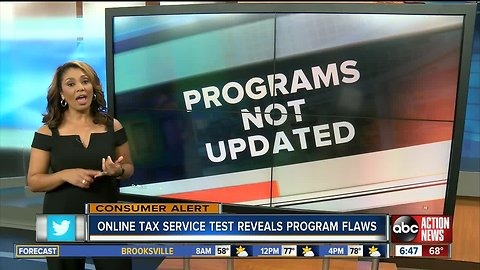 Online tax service test reveals program flaws