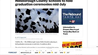 Hillsborough County Schools to hold graduation ceremonies mid-July