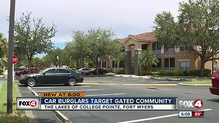4 Cars burglarized, 1 stolen in gated Fort Myers community - Video