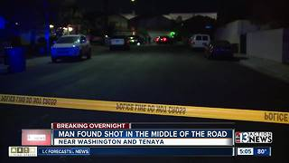 Man found shot in middle of road