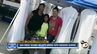 San Diego women reunite brides with wedding gowns - Video