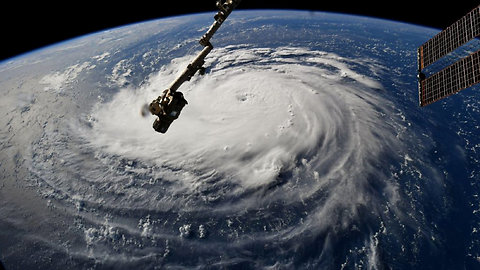 See Hurricane Florence from space