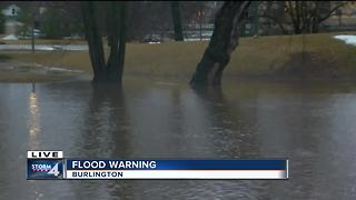 Flood warning creates concern for Burlington residents - Video
