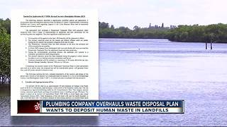 Plumbing company looking to treat human waste on farmland changes plans after backlash - Video