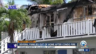 Residents work to salvage items after massive Stuart condo fire - Video