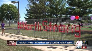 Lee's Summit North HS students create memorial for classmate - Video