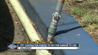 Pipeline contractor reimburses woman for car damage - Video