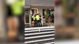 Man Caught 'Stealing' Flowers From Bourke Street Memorial - Video