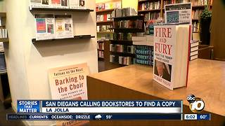 San Diegans calling bookstores to find 'Fire and Fury' copies - Video