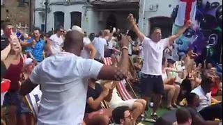 Jubilation in Camden as Maguire opens the scoring for England - Video