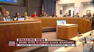 Proposed school boundary changes pass with 6-1 vote - Video