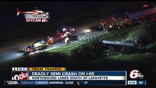 Person killed in I-65 crash in Clinton County, Indiana - Video