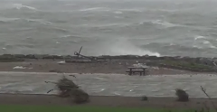 Hurricane Ophelia Causes Large Swell at Salthill in Galway - Video