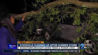 Sykesville Cleaning Up After Summer Storm - Video