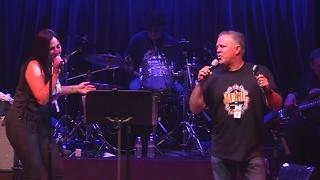 23ABC's Mike Hart and Amy Adams sing