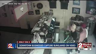 Downtown business captures burglaries on video