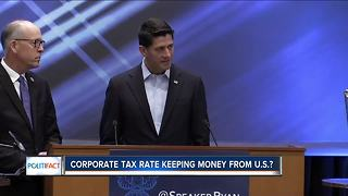 Corporate tax rate keeping money from U.S.? - Video