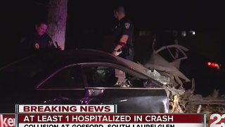 Man hospitalized in southwest Bakersfield pursuit crash - Video
