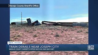 Train derailment near Joseph City