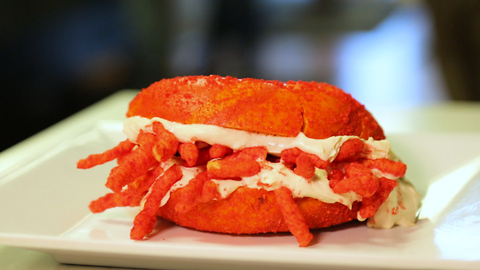 The Bagel Nook's Flamin' Hot Cheetos Bagel Lets You Have Junk Food for Breakfast