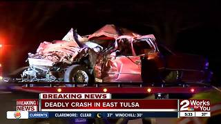 Driver killed in east Tulsa crash - Video