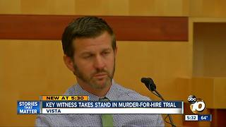 Witness takes stand in murder-for-hire trial - Video