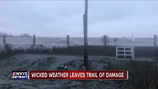 Wicked ice storm leaves trail of damage in metro Detroit - Video