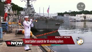 Search for 10 missing local sailors - Video
