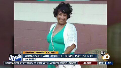 Woman shot with projectile during protest in ICU