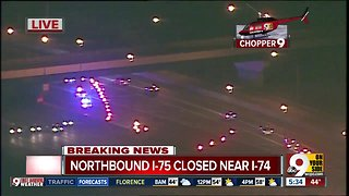 Pedestrian hit on northbound Interstate 75, road closed