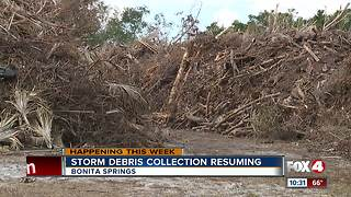 Storm Debris Collection Resuming