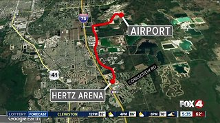 Possible routes President Trump will take from RSW to Hertz Arena