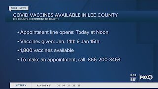 Lee County vaccine appointments available
