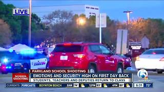 Increased security as students head back to class at Marjory Stoneman Douglas High School