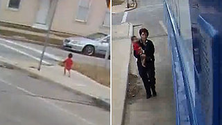 Bus Driver Stops to Rescue Baby Walking Barefoot Through Milwaukee Alone - Video
