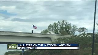 All eyes on the national anthem at Packers-Bears game - Video