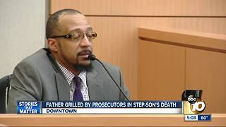 Father grilled by prosecutors in step-son's death - Video