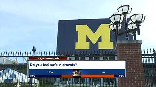 Security fears at University of Michigan, Michigan State University game - Video