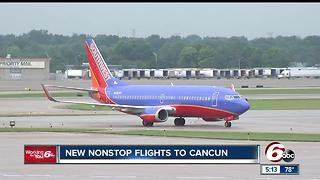 Southwest adds nonstop flights to Cancun from Indianapolis International Airport for Spring 2018