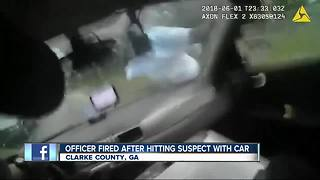 GA suspect run over by police - Video